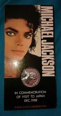michael jackson official sealed Japan 88 bad tour commemorative coin very rare