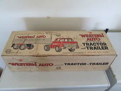 Marx Western Auto Miniature Tractor/trailer  **sealed Box **