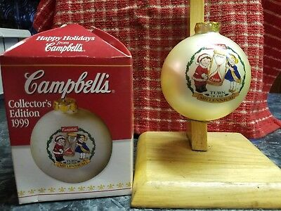 New~ Campbell Soup ~ Millennium ~ Christmas Ornament~ Collectors Addition 1999 ~