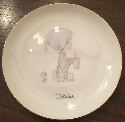 PRECIOUS MOMENTS OCTOBER 1983 Jonathan & David Collectable Plate 6 1/4 Inch