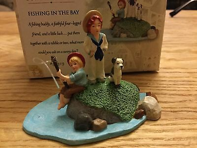 Department 56 Christmas Accessory Seasons Bay Fishing In The Bay Retired #53313