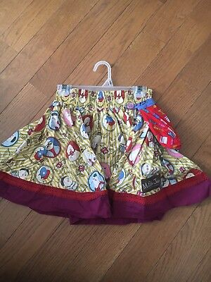 Matilda Jane Paint by Numbers Self Portrait Skirt Size 8 No Spare Button