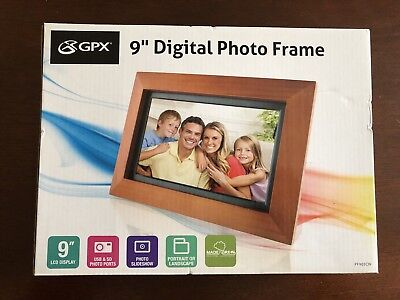 "Picture Frame Digital Photo Frame 9"" TFT LCD Screen GPX PF903CW"