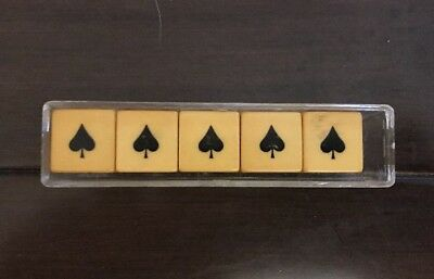 Vintage Crisloid Poker 5 Dice Set  with Instructions and Case From The 1950's