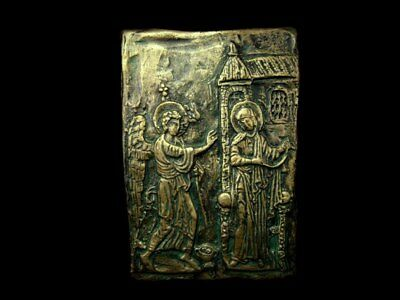 Byzantine Religious Icon, Depicting The Annunciation Of Virgin Mary, Replica!!!