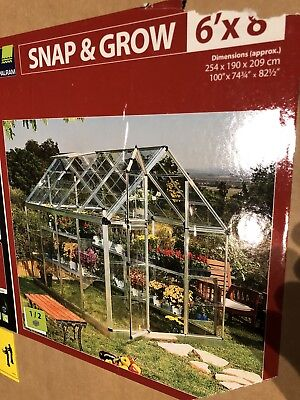 LOCAL PU ONLY! Snap and & Grow Greenhouse 6' x 8' New Palram Grow House