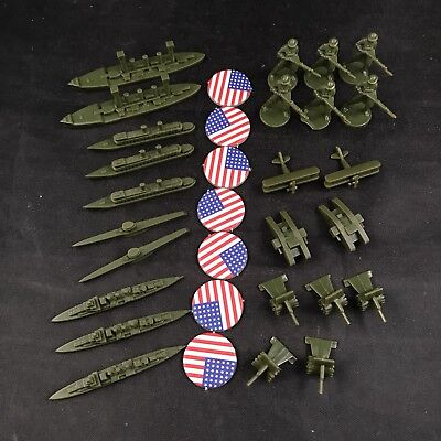 25 Axis and Allies 1914 United States Replacement WW1 American Army Unit Pieces