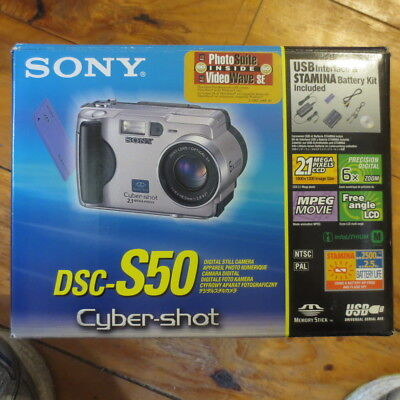 Sony DSC-S50 Cyber-Shot Digital still camera New in Box with Extras