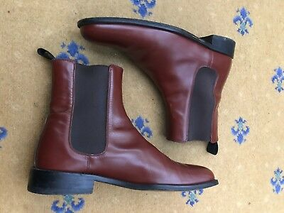 faa6ab2b26f GUCCI MENS SHOES Black Leather Chelsea Dealer Boots size 41 E uk 7 ...