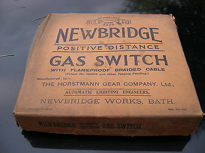 Newbridge Gas Lamp Lighter Remote Control Switch Set, Electro Catalytic Bakelite