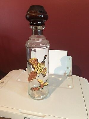 Vintage 1968 Cabin Still Collection Pheasant Decanter Liquor Bottle Bar Ware