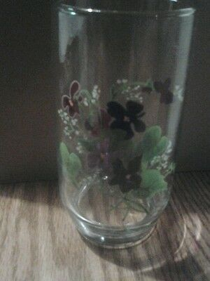 Avon Wild Violets Collection 5 Inch Glass Tumbler