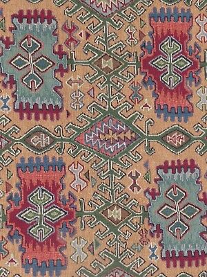 Southwestern Lodge Upholstery Fabric Rustic Heavy Rust Turquoise