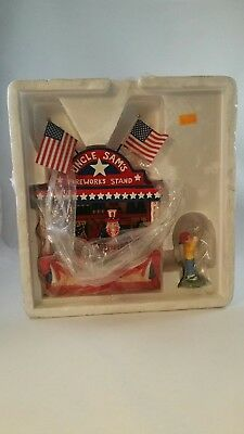 Uncle Sam's Fireworks Stand Snow Village 4th of July Dept 56 new no box