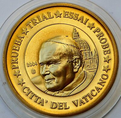 50 Cents Euro 2004 Vatican City, Pattern Coin, Pope John Paul II