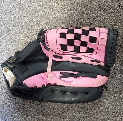 """Reliance Player Series Softball Fielding Glove - Pink and Black 12"""""""