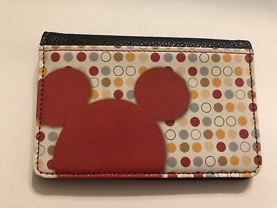 Leather Mickey Mouse bi-fold wallet! Brand new!
