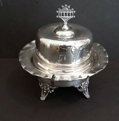 Antique New Amsterdam Silver Co. Silverplate Lidded BUTTER DISH #9
