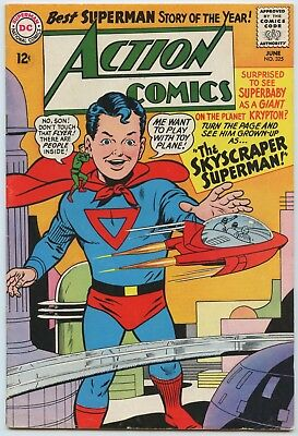 Action #325 Glossy Cover White Pages 1965 FN+ Superboy