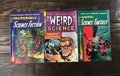 Lot of 3 EC Comics; Weird Science, Weird Science Fiction, Good Condition