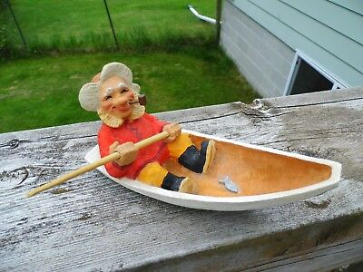 """""""Old Fisherman"""" Henning Carving - Norway - Beautiful Condition Nice Detail! EUC!"""
