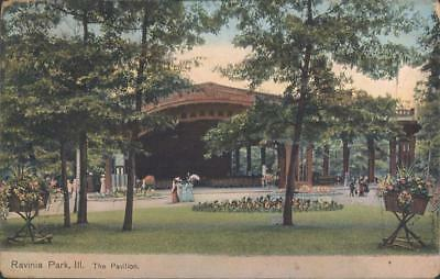 Ravinia Park, IL c1909 Postcard Overlooking Beautiful Grounds at the Pavilion