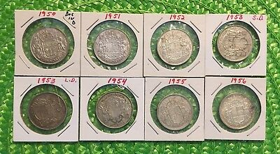 Canadian Silver Dollars / 80% Silver (8 coins)   #9