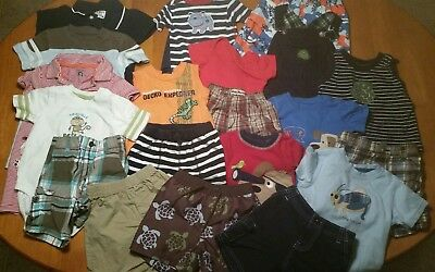 Baby Boys Huge Lot Of Clothes Outfits Size 12-18 Months  Baby Gap Gymboree More