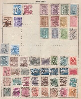 AUSTRIA COLLECTION Early Issues, buildings, etc USED & MINT, as per scan #
