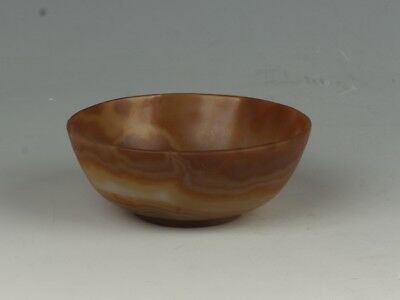 Chinese Exquisite Hand-carved Agate Small Bowl