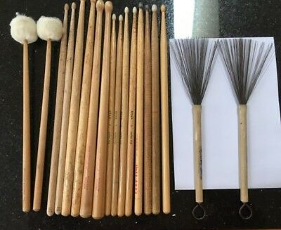 Large Lot Of Drum Sticks - All Types