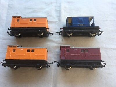 4 Hornby ZL and V/R Guards vans in OO scale.