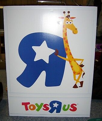 TOYS R US / Geoffrey Store Display 3D Sign / Poster / End Cap 4' High x 3' Wide