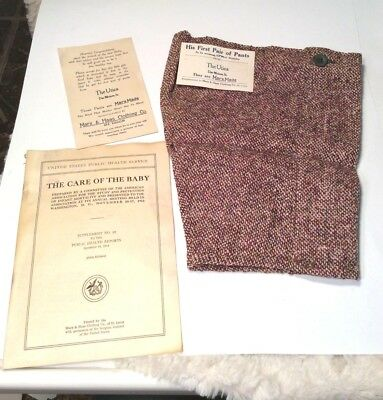 Antique Marxmade Boy's First Pair of Pants The Union Columbus Ohio
