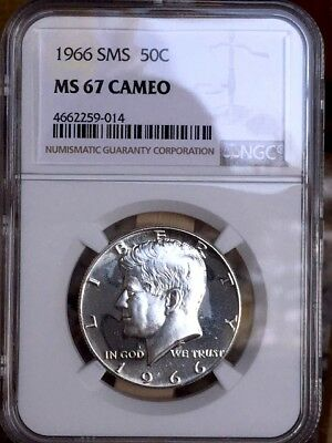 1966 Silver Kennedy NGC SMS 67 Cameo * Price Guide $190 RARE! *