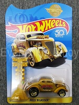 Hot Wheels 50th Anniversary 2018 PASS 'N GASSER Gold UK Mail-IN