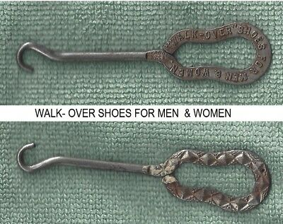 Rare Advertizing Button Hook Shoe Store Walk Over Shoes For Men And Women