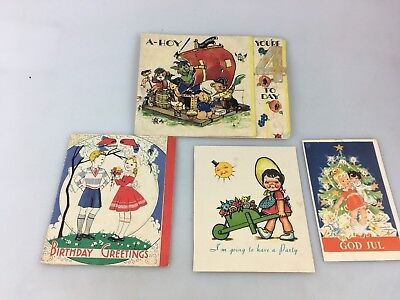 Vintage Childrens Greeting Cards - Used - Cute Little Lot
