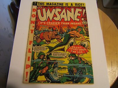 Unsane #15 / Golden Age / 1954 / Nice Copy / Cover Detached
