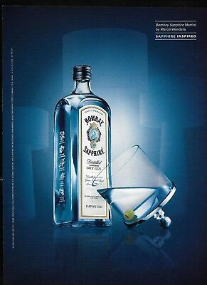Bombay Sapphire Gin Martini Print Advertisement 2004 Glass by Marcel Wanders