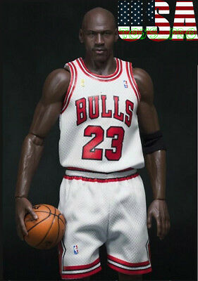 d2b0904dee5f 1 6 Scale Michael Jordan Chicago Bulls White Jersey 23 For Enterbay Body  ❶USA❶