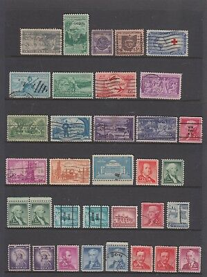 UNITED STATES Collection Including 3c Commens, Pre Cancels Etc..