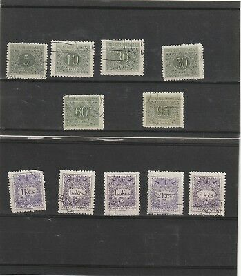 Czechoslovakia 1954 Postage Dues Selection Fine Used