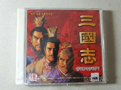 RARE 1997 Vintage Romance of the Three Kingdoms Retro Korea PC GAME CD