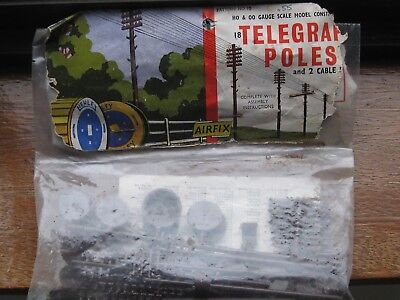 Airfix Kit. 18 Telegraph Poles and 2 Cable Drums