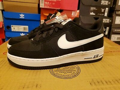 super popular 9e012 8ef50 Nike Air Force 1 Low Boys Grade School BlackWhiteWhite 96728026 Size
