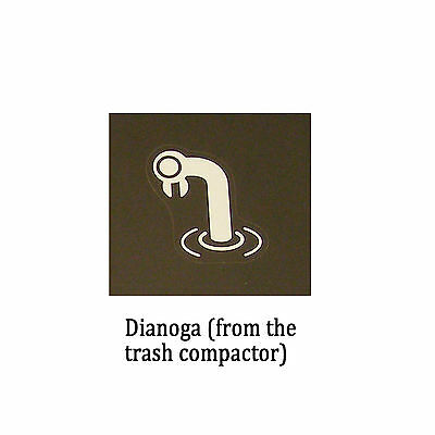 Star Wars Decal: Dianoga the trash compactor monster (60x50mm)