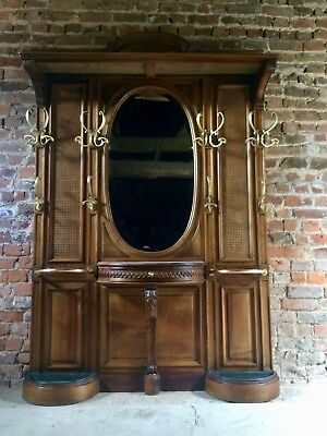 Stunning Antique French Hallstand Coat Stand Walnut 19th Century Large Chateau