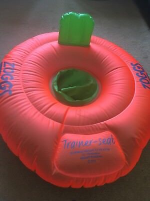 Zoggs baby inflatable swimming trainer seat 12-18 months, with instructions