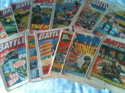 uk comics battle action valiant job lot x 13 1970s